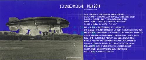 estonoesunsolar 2013 tour gravalosdimonte